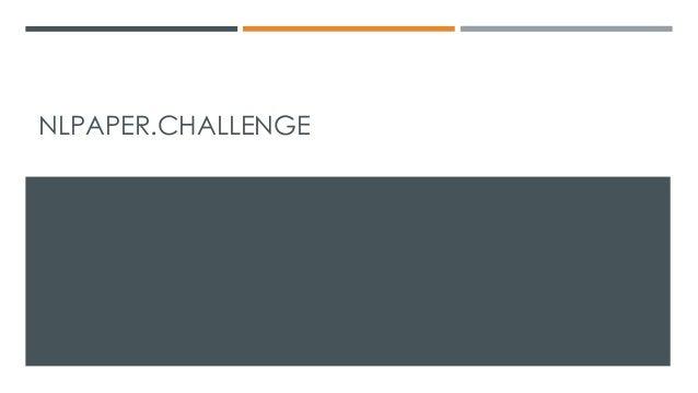 NLPAPER.CHALLENGE