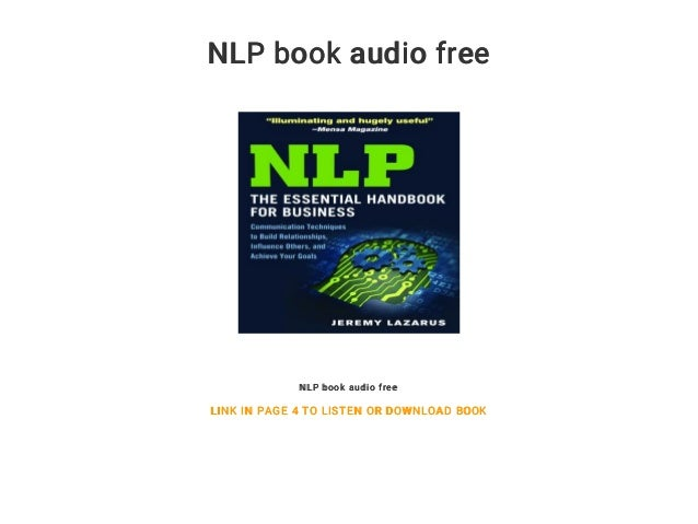 Nlp books for beginners pdf free download.