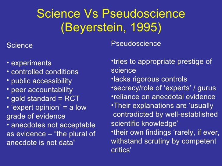 Differences Between Science And Pseudoscience