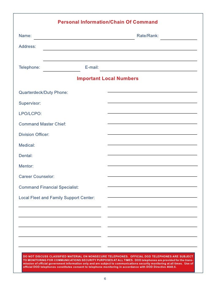 2011 Navy Leader Planning Guide – Navy Financial Planning Worksheet