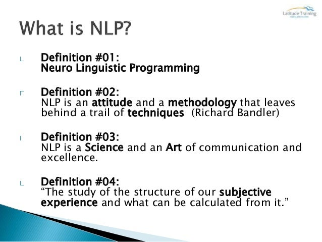 Nlp Suggestion Techniques - NLP Practicioner
