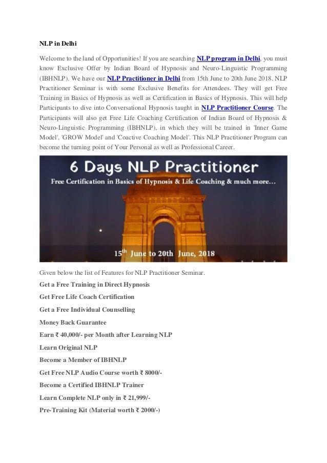 Nlp In Delhi