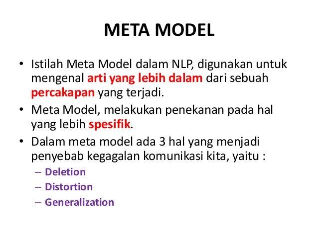 NLP - Sistem Representasi Internal dan Meta Model