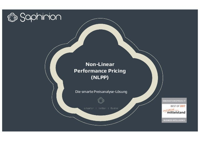 Non-Linear Performance Pricing (NLPP) Die smarte Preisanalyse-Lösung