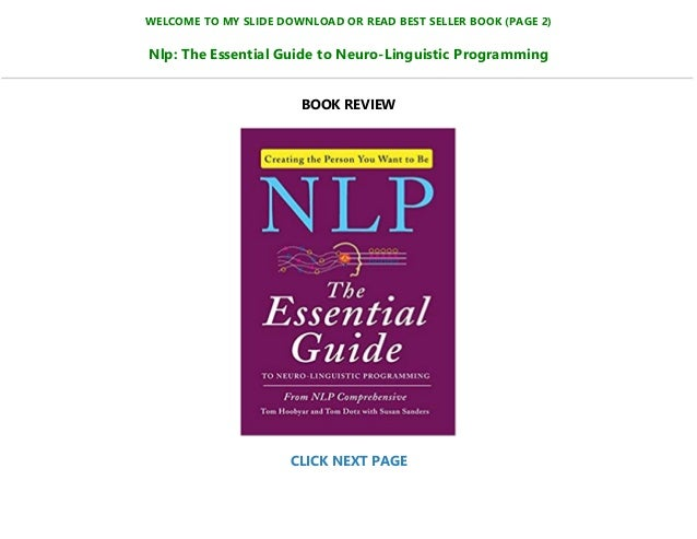 NLP, The Essential Handbook For Business PDF Free Download