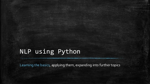 KiwiPyCon 2014 - NLP with Python tutorial