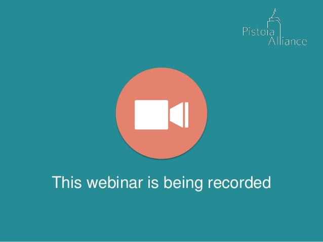 This webinar is being recorded