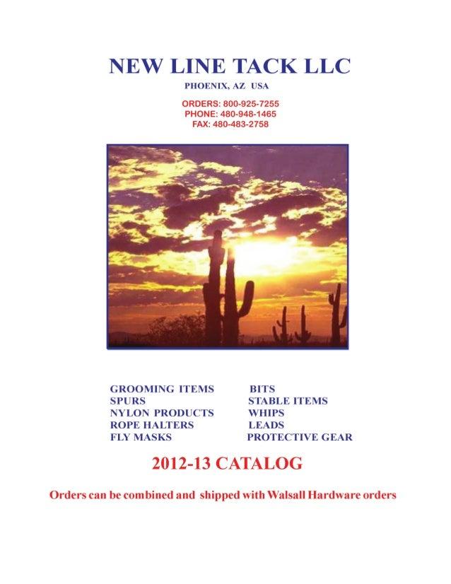 NEW LINE TACK LLC2012-13 CATALOG