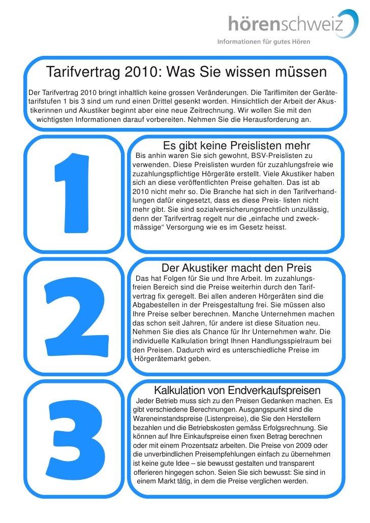 Tarifvertrag 2010: Was Sie wissen müssen Der Tarifvertrag 2010 bringt inhaltlich keine grossen Veränderungen. Die Tariflim...