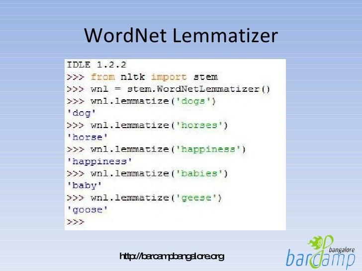 NLTK: Natural Language Processing made easy