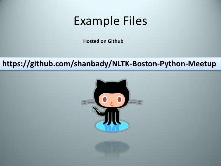 NLTK - Natur... Python Apps Examples