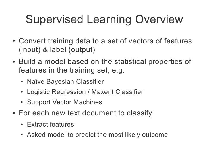 Statistical Learning and Text Classification with NLTK and scikit-learn Slide 3