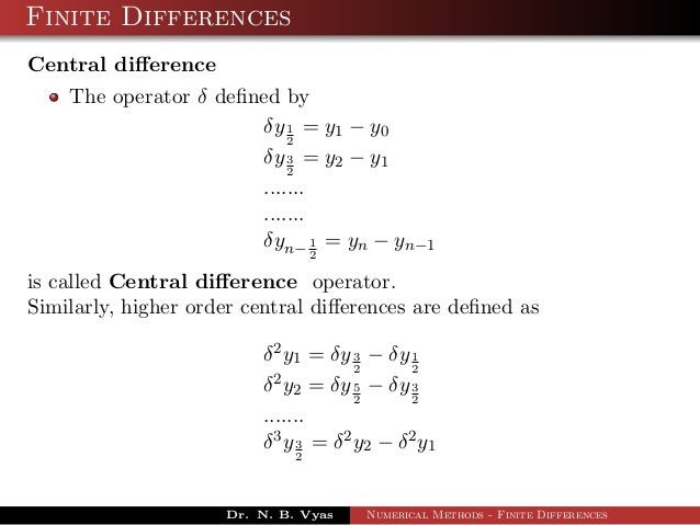 Interpolation with Finite differences
