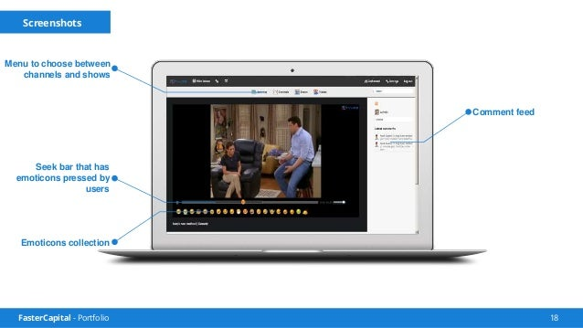 FasterCapital - Portfolio 19 Tvlize Features Users can comment on shows, propose changes. They can also tag any moment of ...