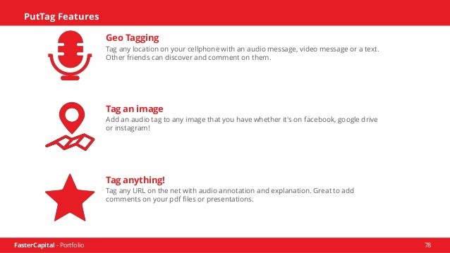 FasterCapital - Portfolio 79 Reach Us www.puttag.com sales@puttag.com (513) 456-7888 PutTag is an online service that help...