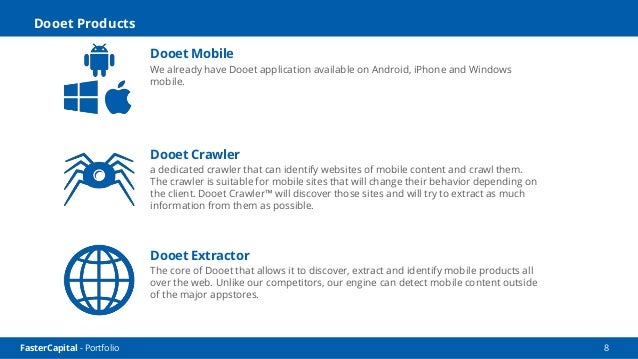 FasterCapital - Portfolio 9 Reach Us www.dooet.com sales@dooet.com (650) 262-5820 50 Tower Road, San Mateo, CA 94402 Help ...