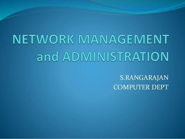 S.RANGARAJAN COMPUTER DEPT