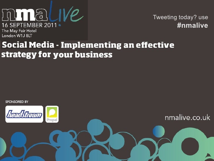 Tweeting today? use        #nmalive