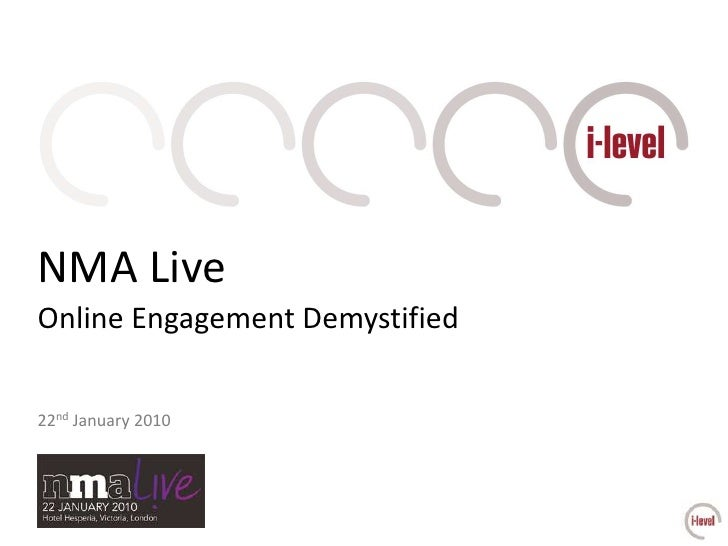NMA Live<br />Online Engagement Demystified<br />22nd January 2010<br />