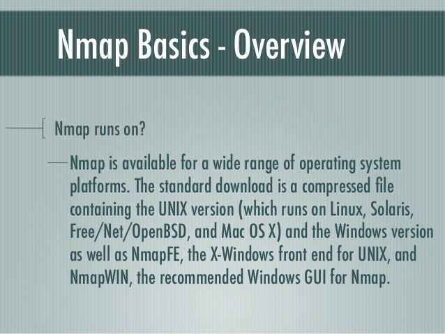 Nmap basics
