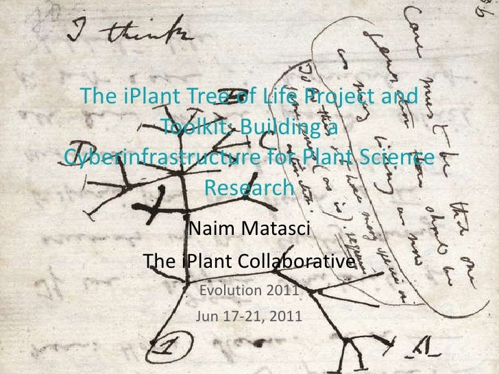 The iPlant Tree of Life Project and Toolkit: Building a Cyberinfrastructure for Plant Science Research Naim Matasci The iP...