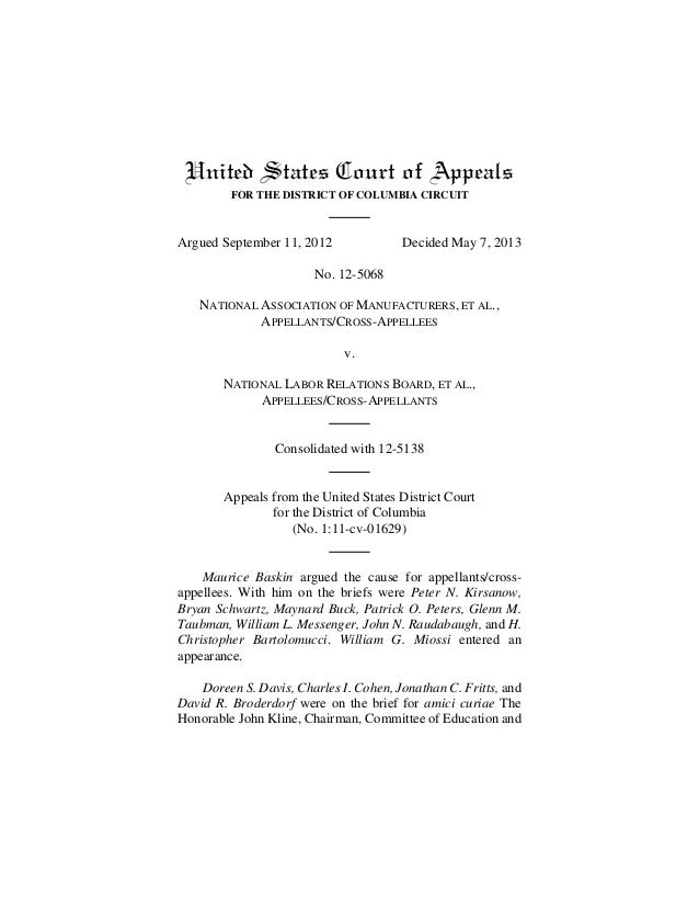 United States Court of AppealsFOR THE DISTRICT OF COLUMBIA CIRCUITArgued September 11, 2012 Decided May 7, 2013No. 12-5068...