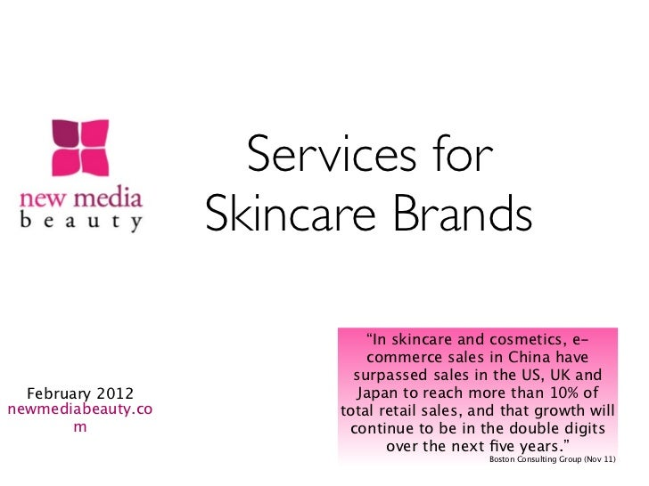 """Services for                    Skincare Brands                              """"In skincare and cosmetics, e-               ..."""