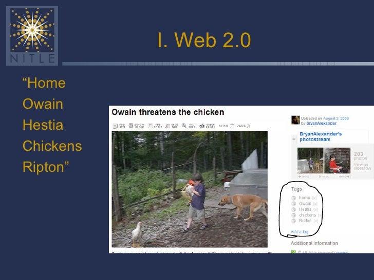 "I. Web 2.0 <ul><ul><li>"" Home </li></ul></ul><ul><ul><li>Owain </li></ul></ul><ul><ul><li>Hestia </li></ul></ul><ul><ul><l..."