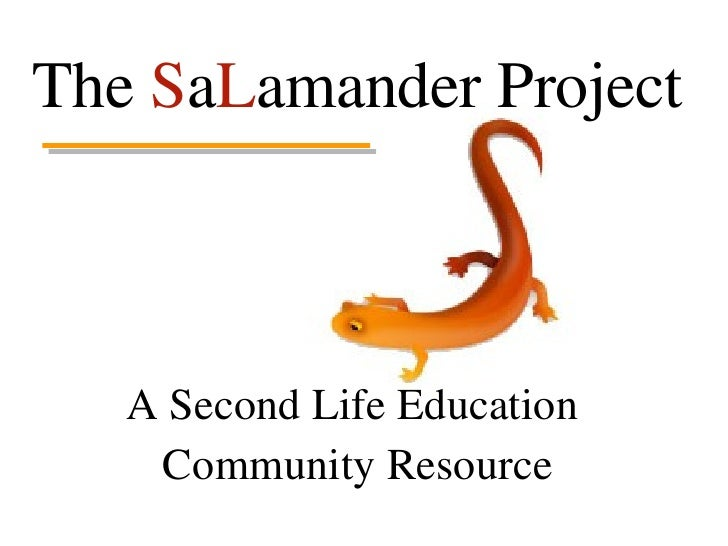 The  S a L amander Project A Second Life Education  Community Resource
