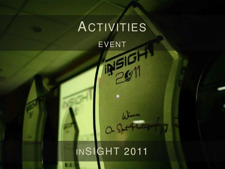 A CTIVITIESE XTERNAL PARTI CI PATI O N          GIKI   M EDIAFEST 2011