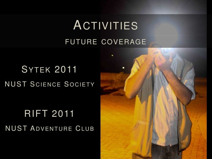 A CTIVITIES                      FUTURE CO M PETI TI O NS                        M EDIATHON 2011                          ...