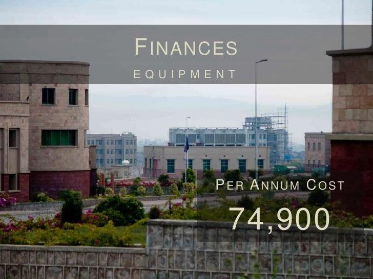 F INANCES        EQUIPMENTPER MONTH COST  6,241