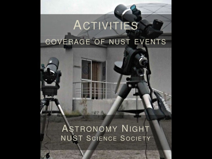 A CTIVITIES        CO VERAG E O F NUST EVENTS             NUST M ARATHONA DVENTURE, S PORTS AND A RTS S OCIETY   AT   SMME...