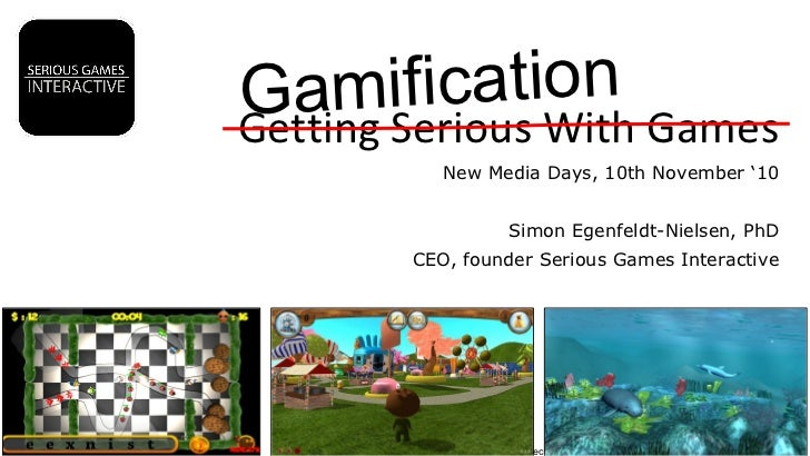 Selected productions Serious Games Interactive 2006-2010 ©  Getting Serious With Games New Media Days, 10th November '10 S...