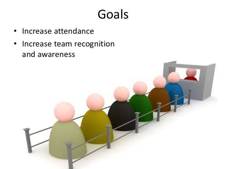 Goals<br />Increase attendance<br />Increase team recognition and awareness <br />