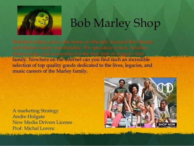 Bob Marley ShopBobMarleyShop.com is the home of officially licensed Bob Marleyand Marley family merchandise. We specialize...