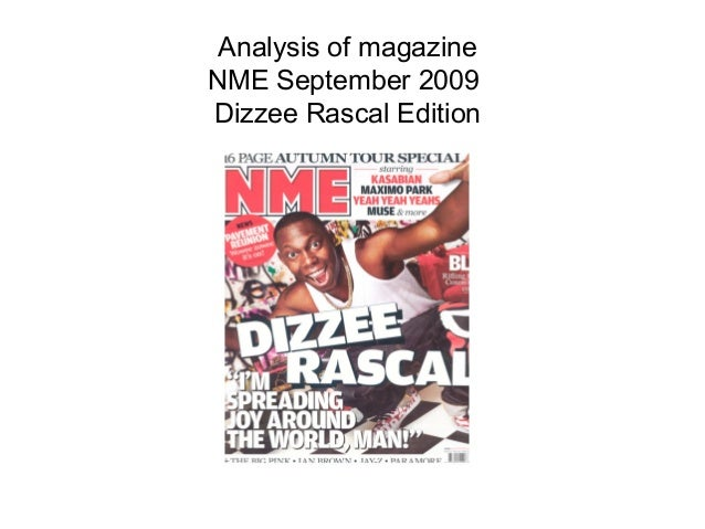 Analysis of magazineNME September 2009Dizzee Rascal Edition
