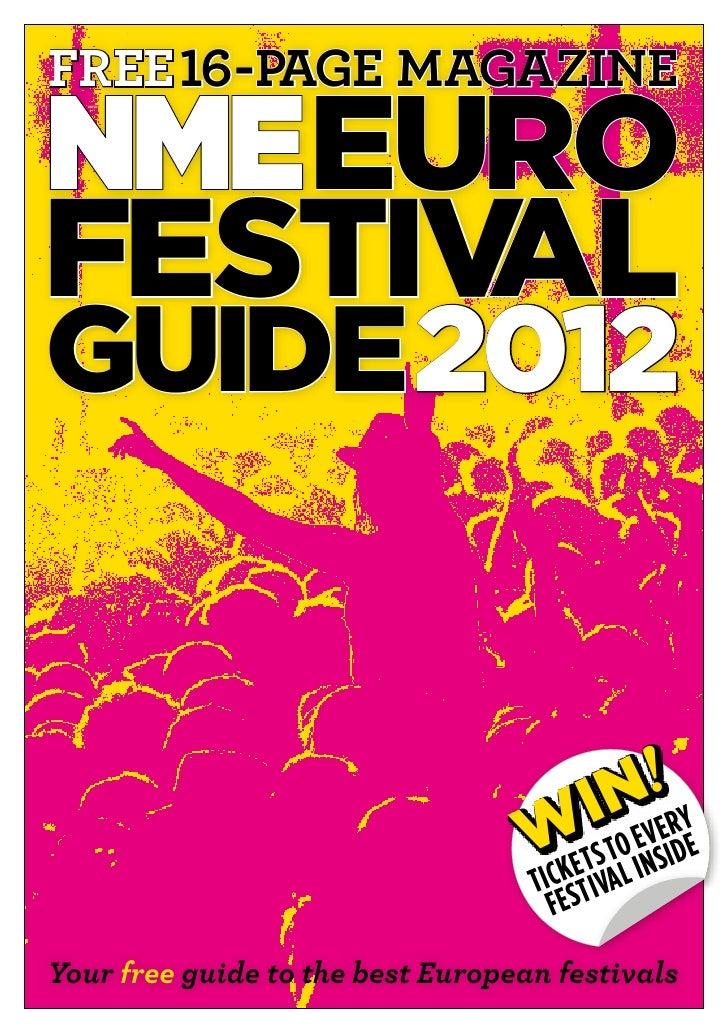 free 16-page magazine                   EUROFESTIVALGUIDE 2012                                        Nv!ry               ...