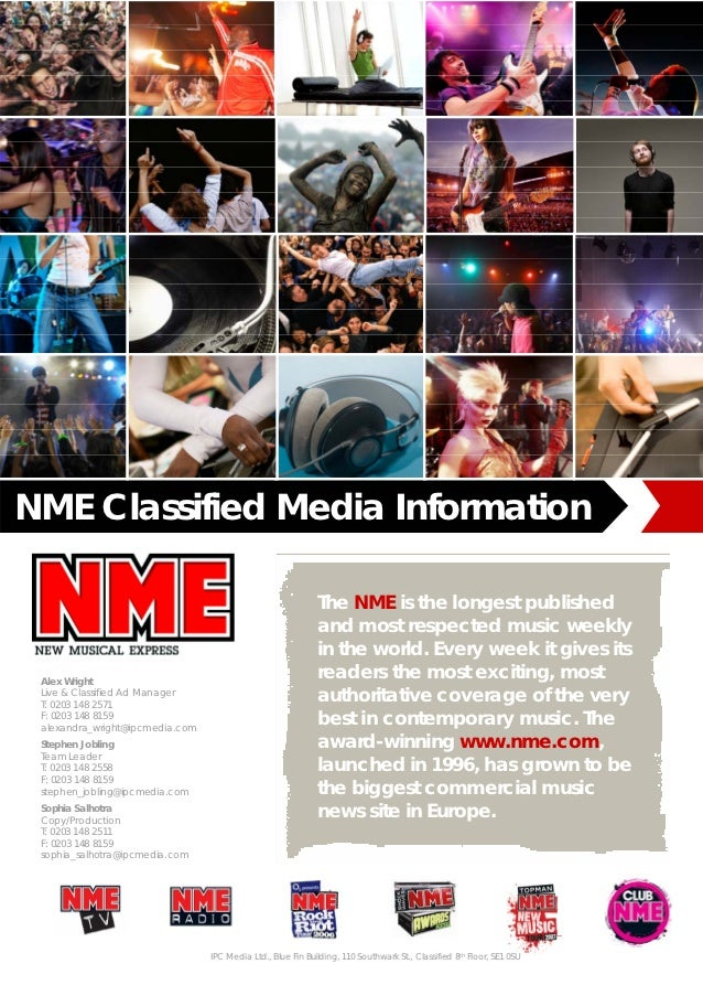 NME Classified Media Information                                                             The NME is the longest publis...