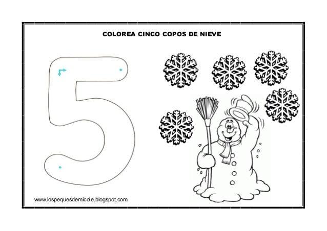 www.lospequesdemicole.blogspot.com COLOREA CINCO COPOS DE NIEVE