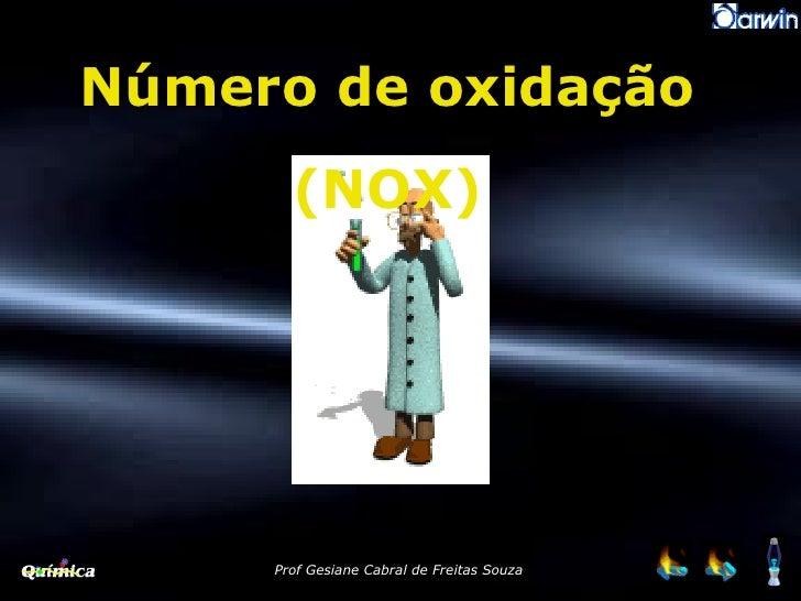 Número de oxidação (NOX)