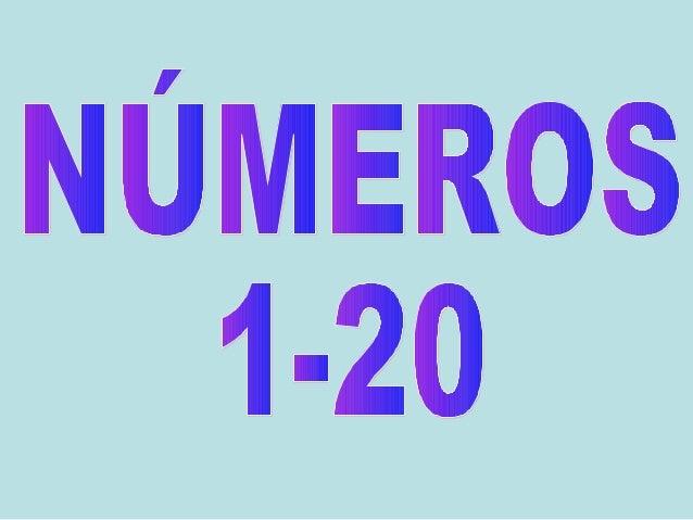 Números 1 20