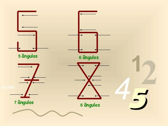 1          5 ângulos                                    2                      6 ângulos013456…     7 ângulos             ...