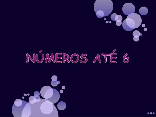 Números até 6
