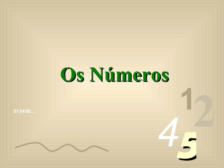 Os Números                        1 013456…                       45                     2