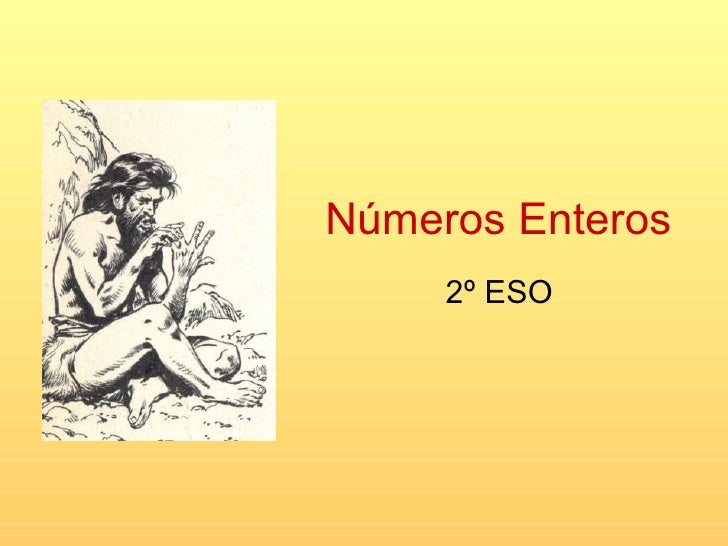 Números Enteros 2º ESO