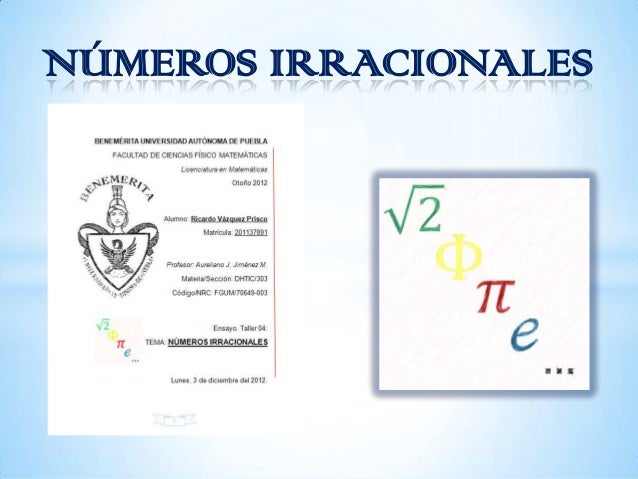 NÚMEROS IRRACIONALES