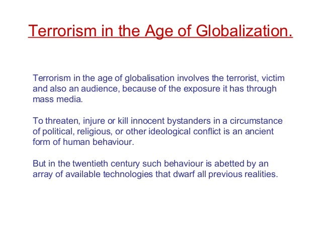 Globalization and terrorism pdf editor