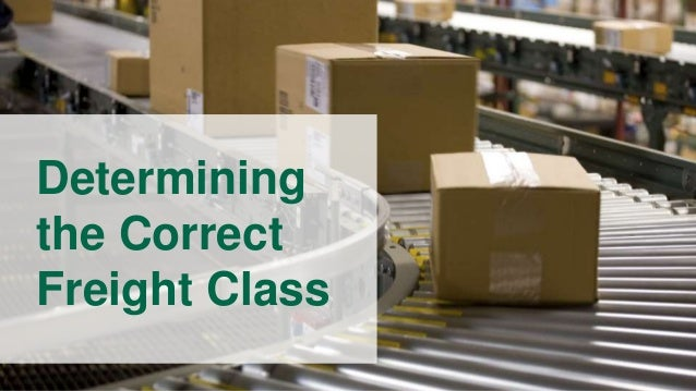 What are freight classes?