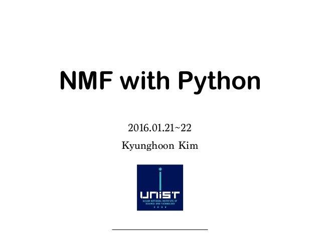 NMF with python